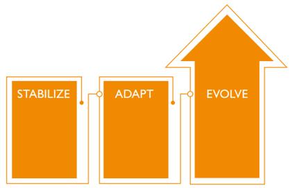 Stabilize, adapt, evolve - the future of health care
